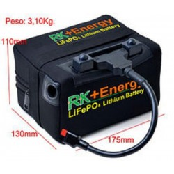 Bateria Litio RK+Energy LiFePO4 12V., 22Ah